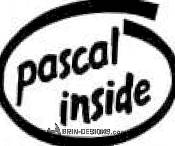 Pascal - Lajittele yhdistämällä - rekursio