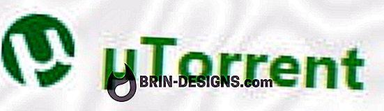uTorrent - स्थिति पट्टी में गति सीमा प्रदर्शित करें