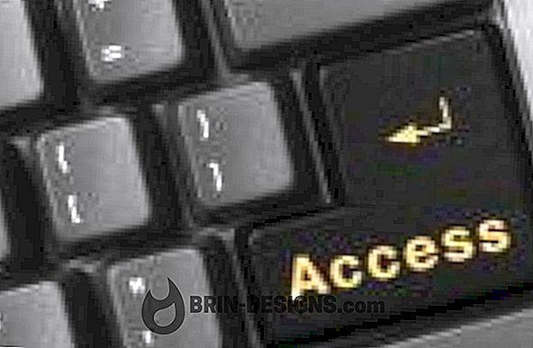 ACCESS-palautus oletusvalikko