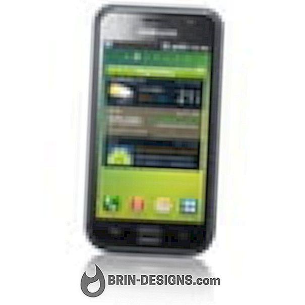 Samsung Galaxy S - Toegang tot de algemene testmodus