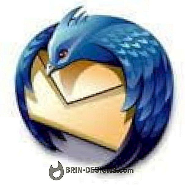 Thunderbird - sõnumite avamine uuel vahekaardil