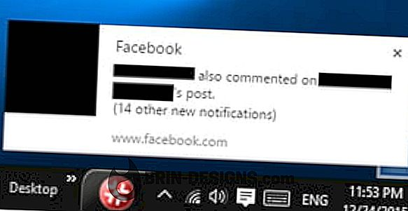 Obvestila na namizju Facebook v sistemu Windows 10
